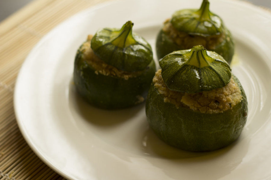 Stuffed Round Courgette
