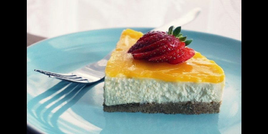 Persimmon cheesecake