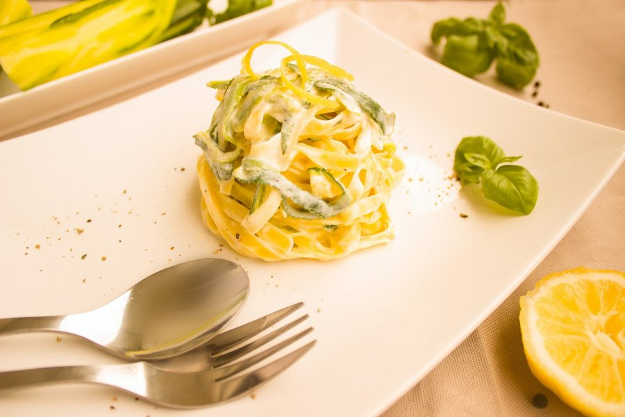 Courgettes and Robiola Tagliatelle